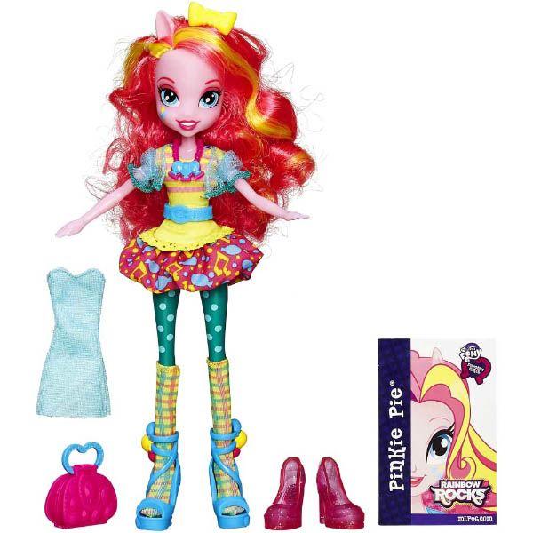 MLP 2014 Rainbow Rocks Dress Up Pinkie Pie Equestria Girls Doll | My ...