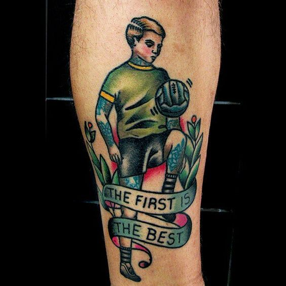 Football Tattoo Tattoo Traditional Tattoo Done By