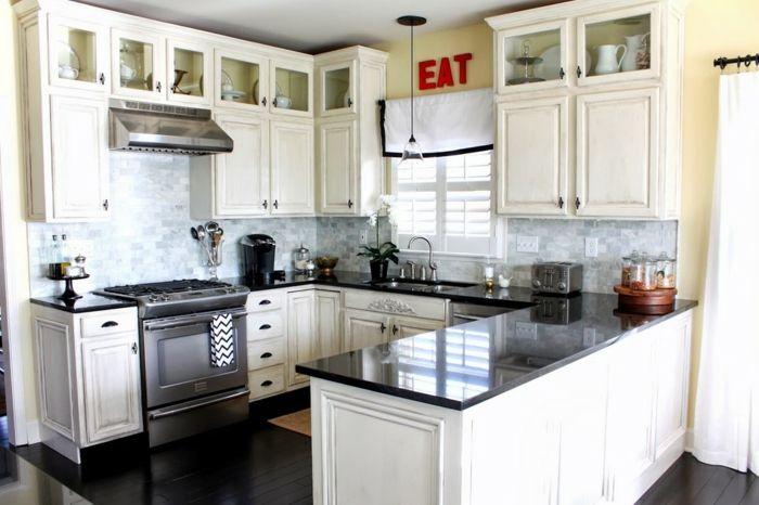 cuisine blanche avec plan de travail noir 73 id es de relooking cuisine. Black Bedroom Furniture Sets. Home Design Ideas