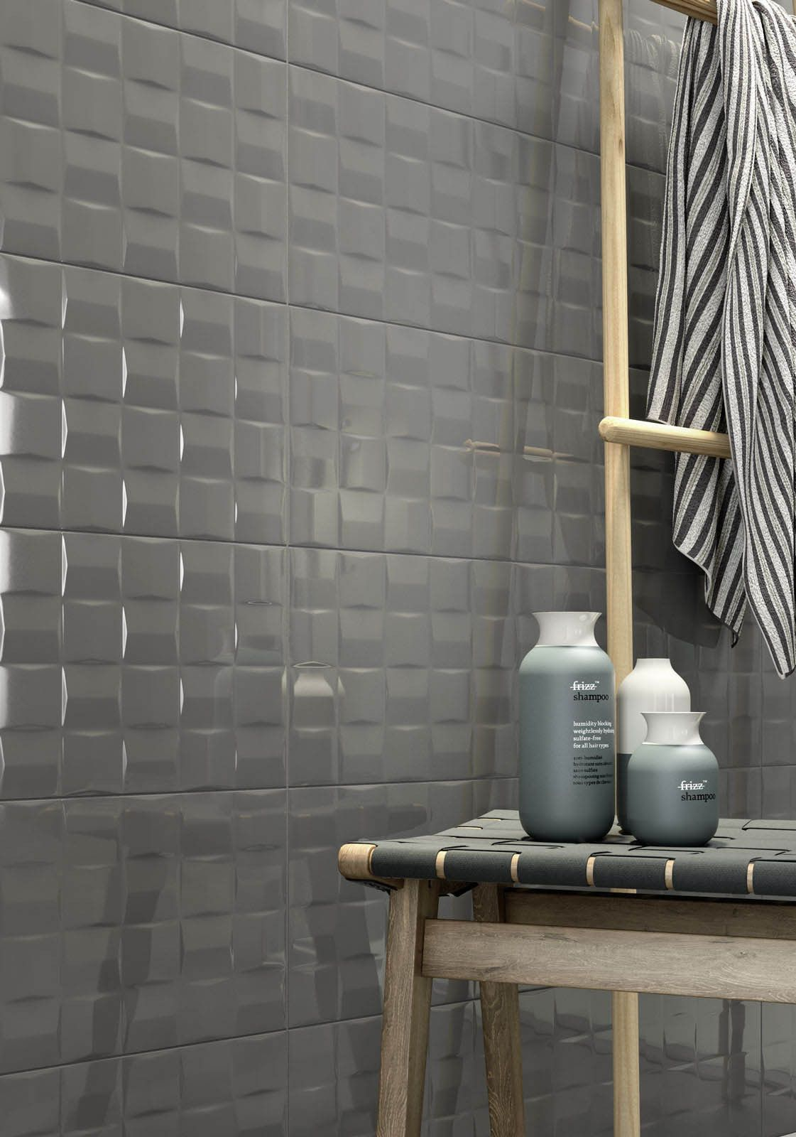 marazzi #pottery slate cube 3d 25x76 cm mmv2 | #feinsteinzeug, Badezimmer ideen