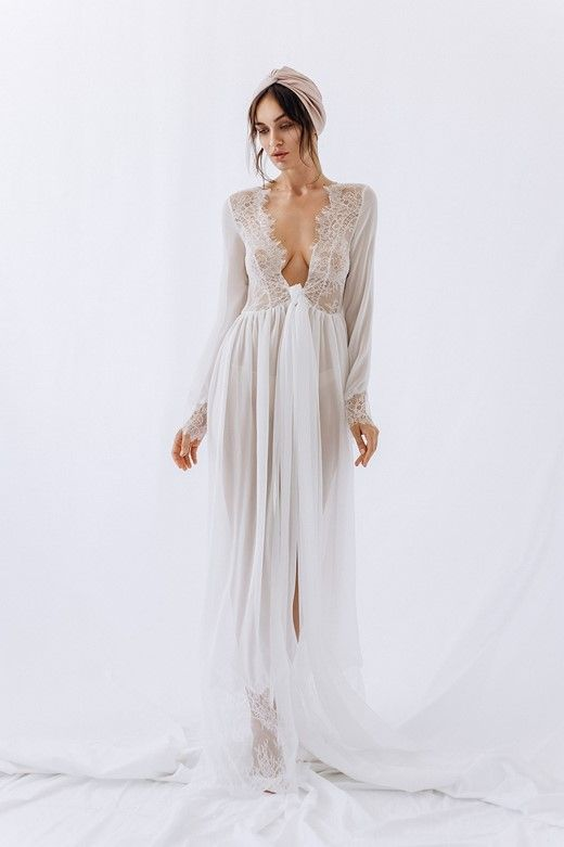 great fit top quality professional website Pin on Bridal Peignoirs & Wedding Robes
