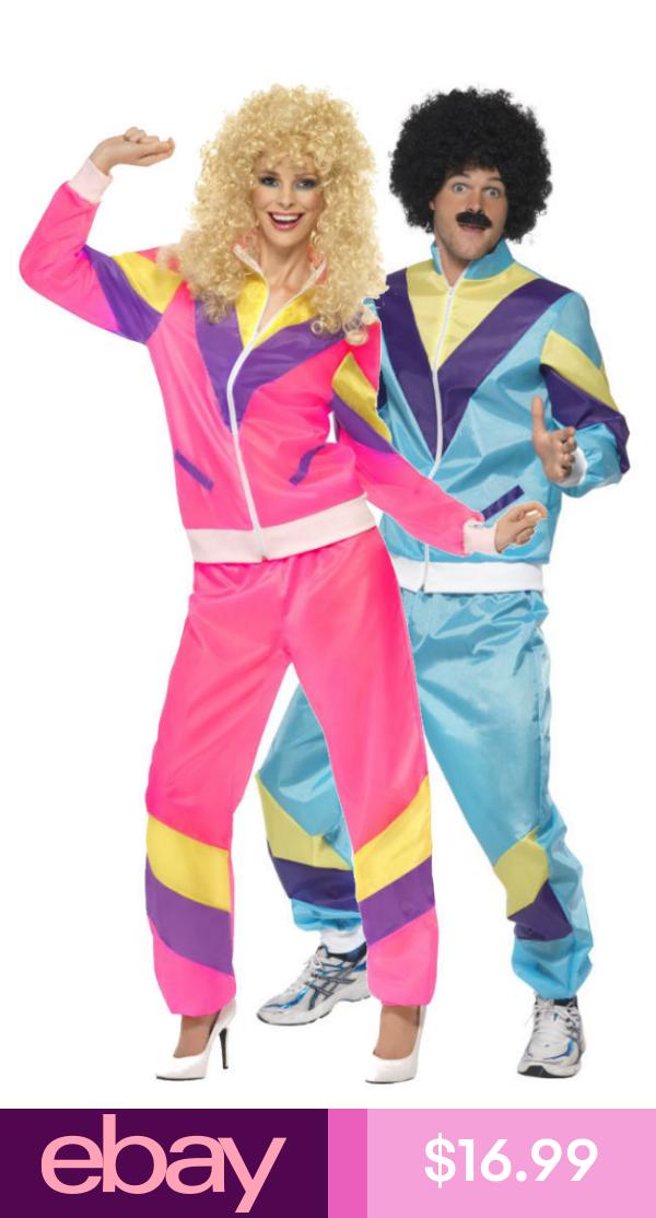 Scouser Tracksuit Mens Fancy Dress 1980s Retro Shell Suit 80s Adult Costume