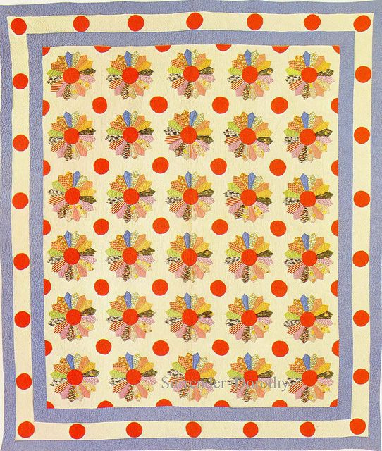 Pieced Quilt Dresden Plate 1930 by SurrendrDorothy, via Flickr