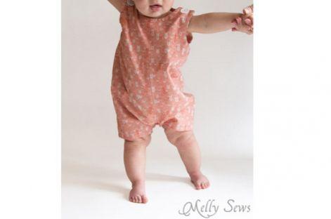 Free pattern: Baby boy romper or Jon Jons