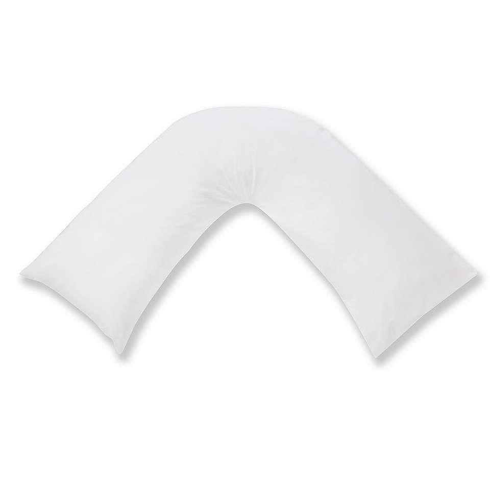 V Shaped Pillows VPillow slip White