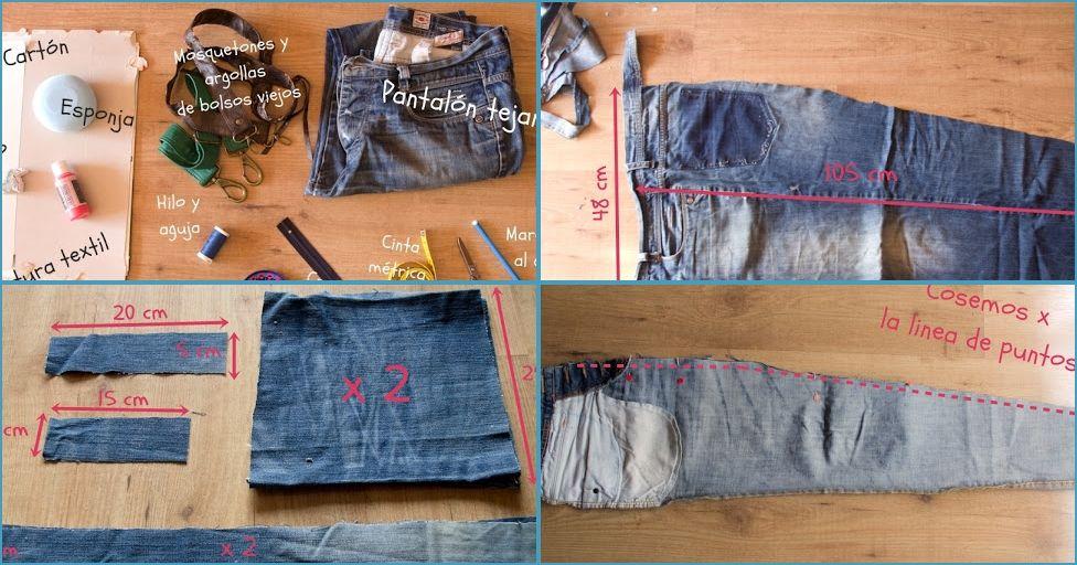 Haz Una Funda Para Tu Sombrilla De Playa Con Unos Viejos Vaqueros Jeans Bag Jeans Diy