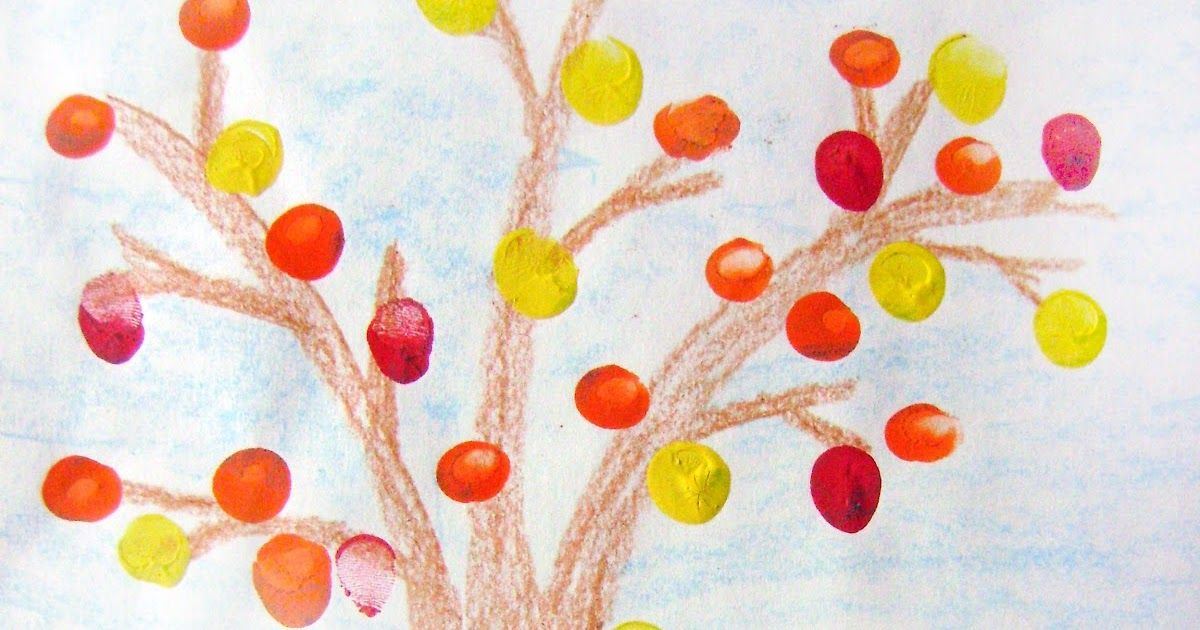 Earlier this year (back in Fall), Kindergartners made Fall Trees…