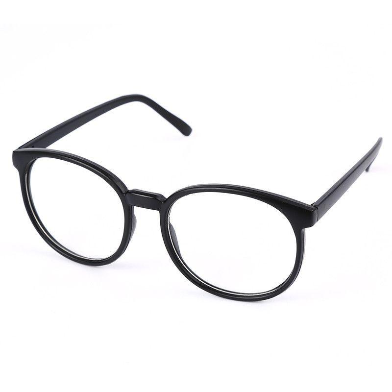 e32adb8be78 Womens Vintage Glasses Frame Plain Mirror Harajuku Round Optical Frame Girl Eyeglass  Clear Lens