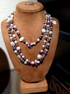 Grand Baroque  62 Inch Freshwater Pearl Necklaces  by GiellOART