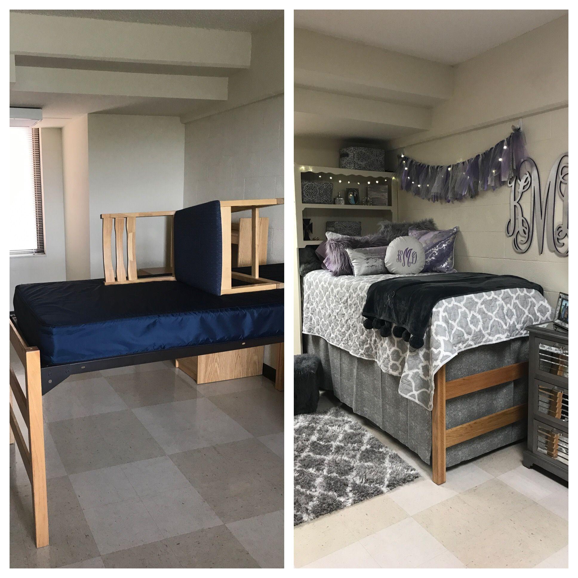 Before And After Mtsu Dorm Makeover Dorm Sweet Dorm Mtsu Dorm Dorm Room Inspiration