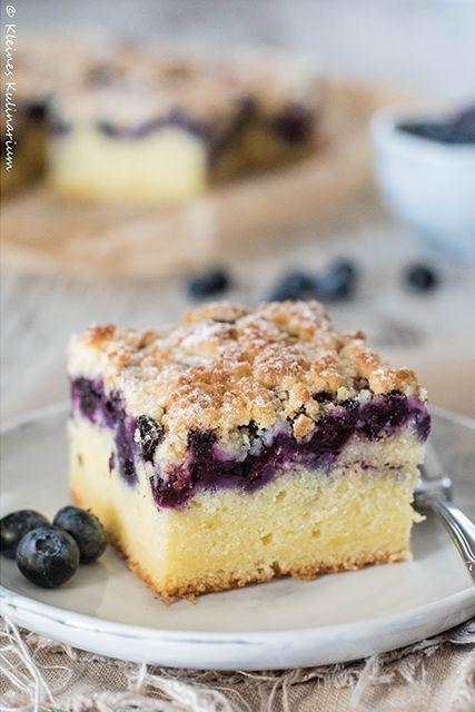 Blaubeer-Buttermilch-Kuchen mit Streuseln #süßesbacken