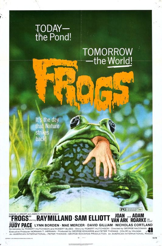 Love, love, LOVE this movie! It's great camp! Plus, they're TOADS, not frogs and they don't actually kill anyone in the entire movie!