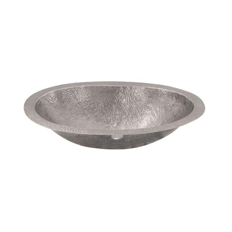"Photo of Brass Elegans 97FLP 17-1 / 2 ""oval hammered copper washbasin with …"