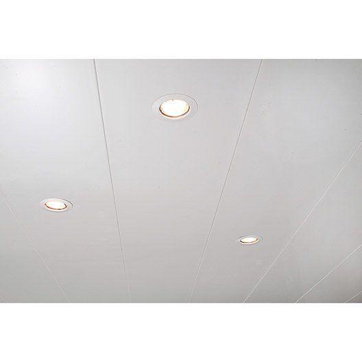Lambris PVC blanc brillant Maison - Salle de bain Pinterest