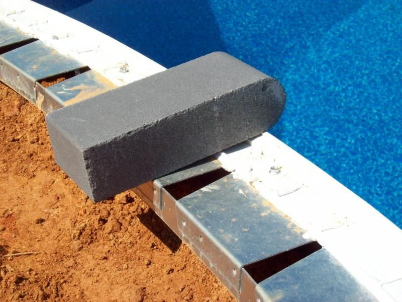 Question Installing Bullnose Pool Coping Pool Coping Vinyl