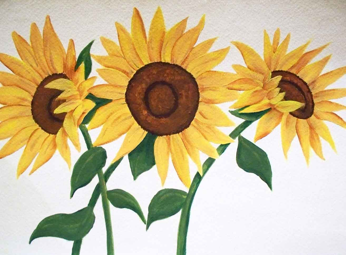 Free Sunflower Patterns To Paint How To Paint Easy