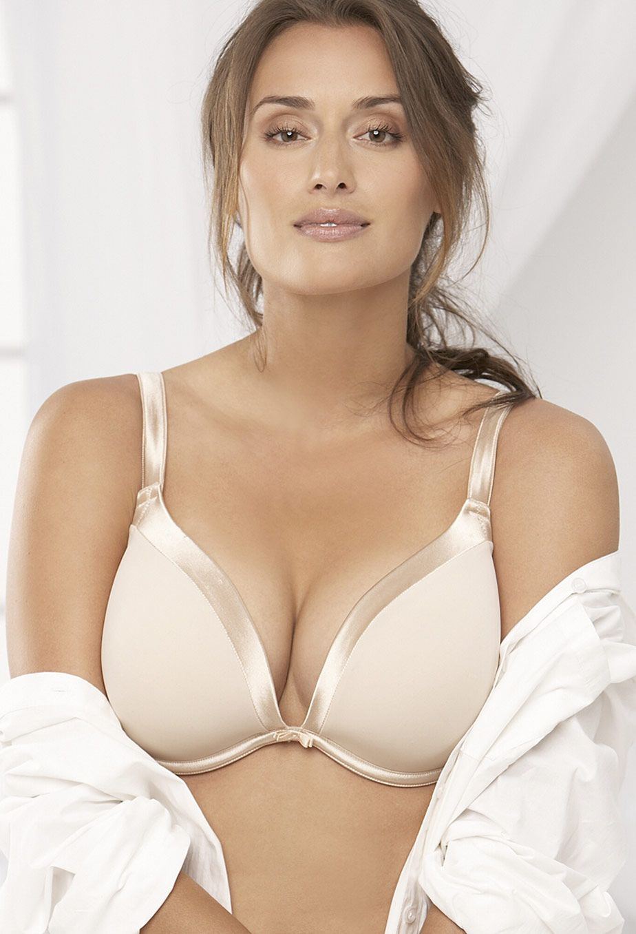 plus size one sexy tuxedo plunge underwire bra | plus size plunge