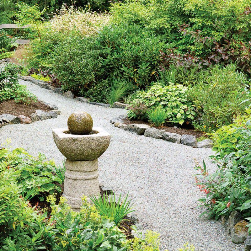 great garden fountain ideas gravel landscaping on extraordinary garden stone pathway ideas to copy id=19201