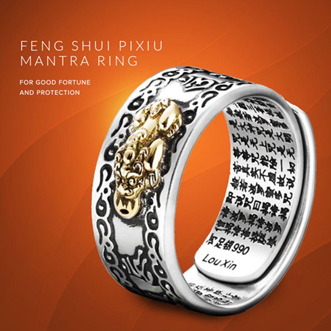 Feng Shui Pixiu Mantra Ring In 2020 Mantra Ring Feng Shui Feng Shui Ring