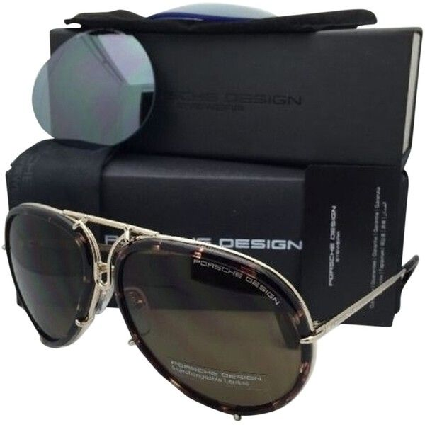 92d20515888e Pre-owned New Porsche Design Titanium Aviator Sunglasses P 8613 B Gold...  ( 600) ❤ liked on Polyvore featuring accessories