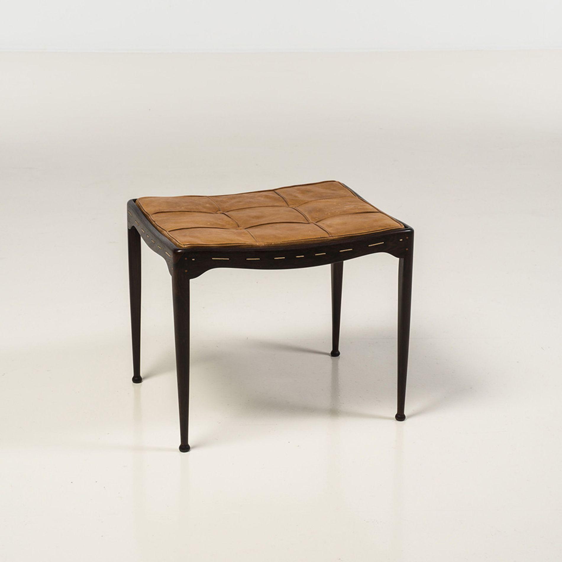 Lemon Wood Furniture ~ Peder moos rosewood lemon wood rope and leather stool