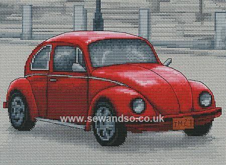 Retro Beetle Cross Stitch Kit