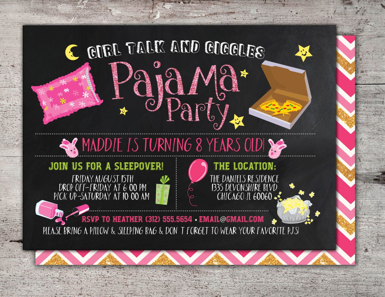Adult Slumber Party Invitations - Amazing Invitation Template ...