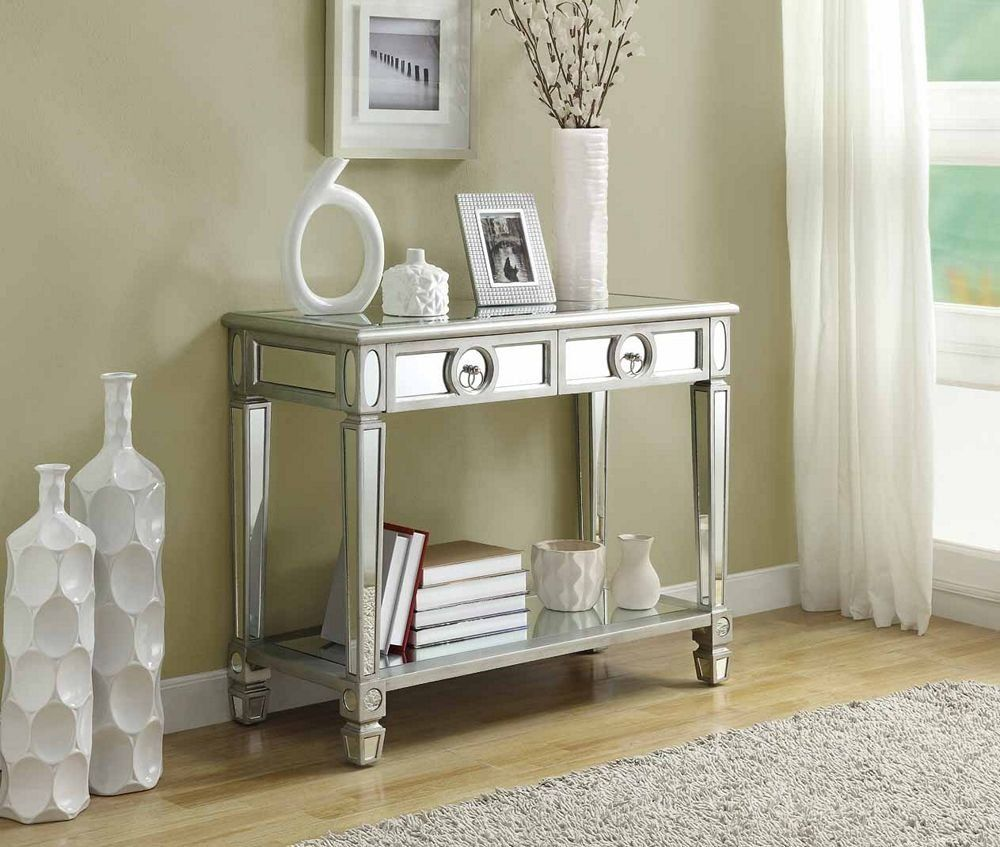 Charming Amazon.com: Monarch Specialties Length Sofa Console Table With 2 Drawer,  38 Inch, Mirrored: Kitchen U0026 Dining