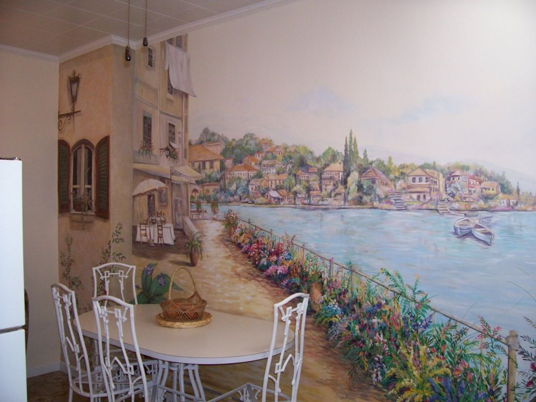 Kitchen art wall mural kitchen makeover pinterest home