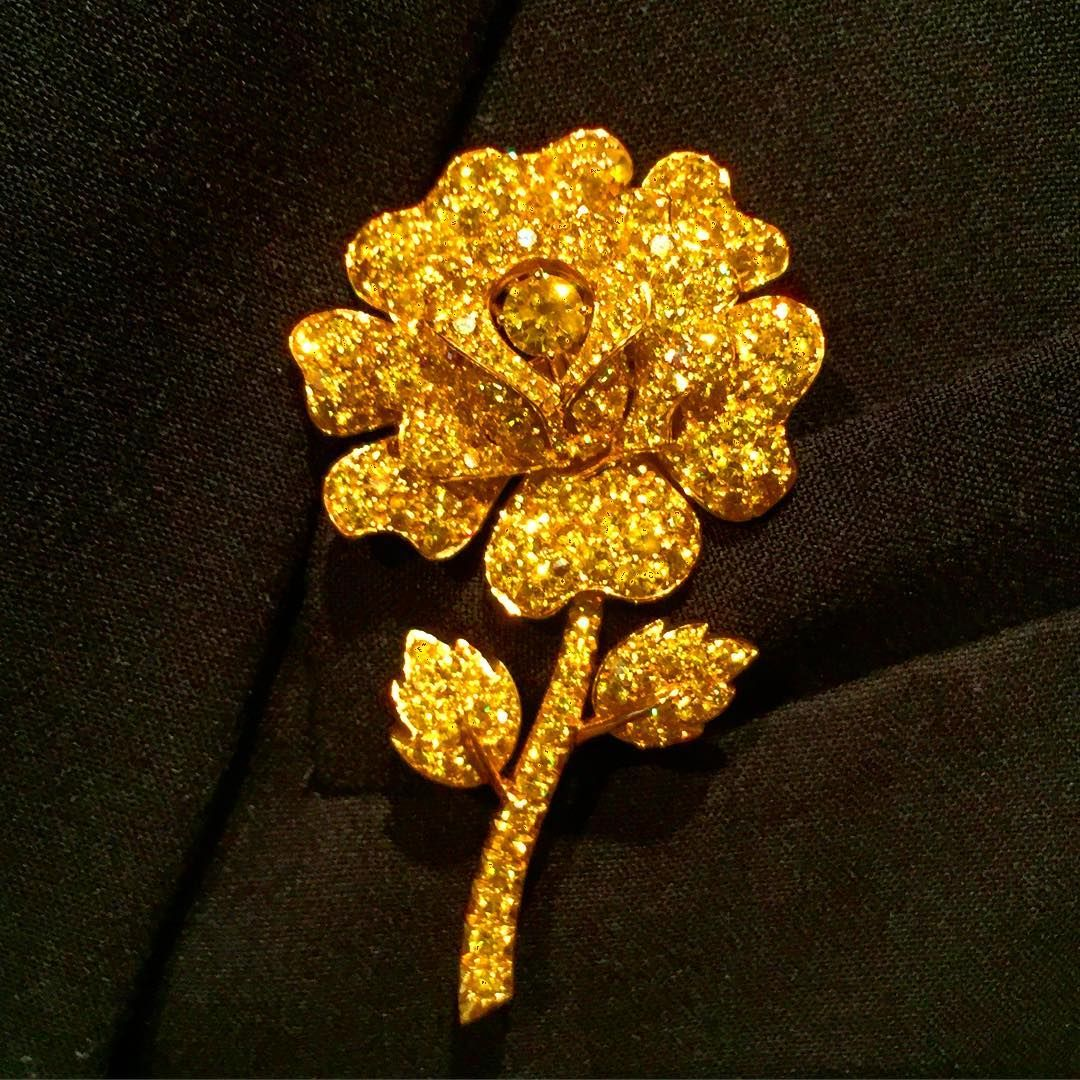 #christiesjewels Diamond Rose Brooch by Van Cleef & Arpels... New York Magnificent Jewels 4.20.2016