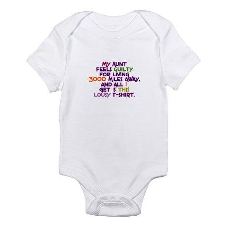 Bodysuit humorous message I have an Auntie who rocks