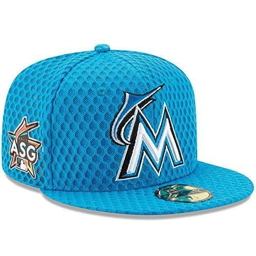 the best attitude a339c a586b New Era 59Fifty Miami Marlins Fitted Cap Size 7 1 8 HR Derby 2017 All Star  Game  NewEra  MiamiMarlins