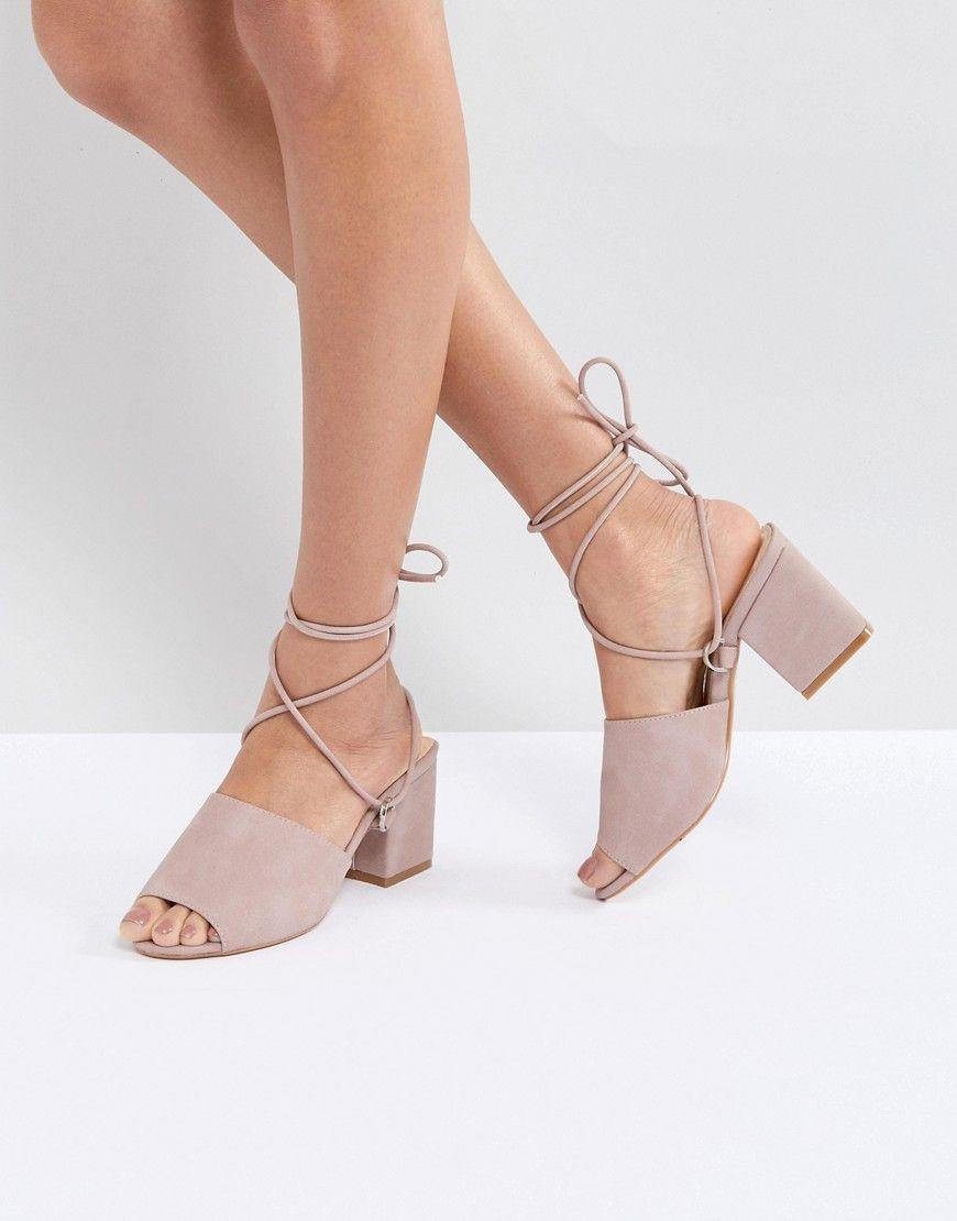 d31e630cbb5f Public Desire Paddington Pink Tie Up Block Heeled Sandals – Pink ...