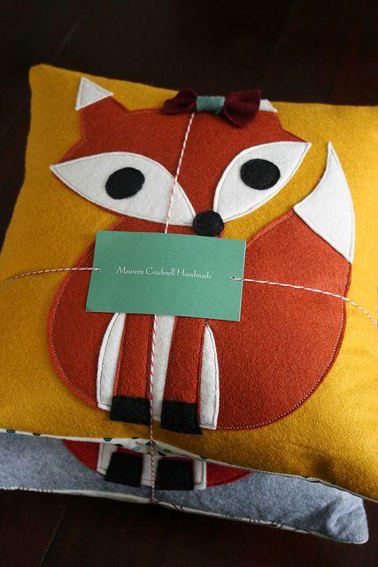 Mrs And Mr Fox Pillows Vilt En Herfst
