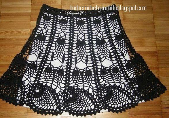 20 Faldas para tejer con Ganchillo / patrones y moldes | Todo ...