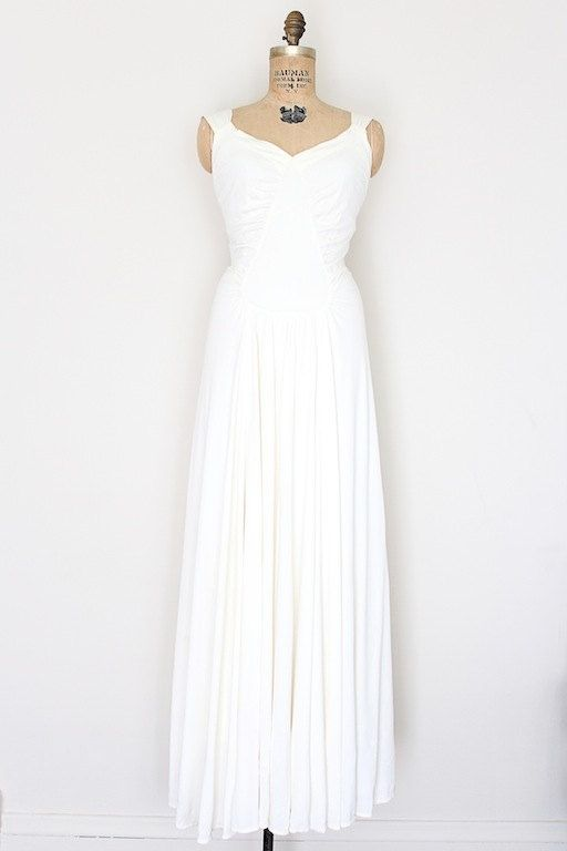 1940s wedding dress // vintage 40s wartime wedding gown // by ...