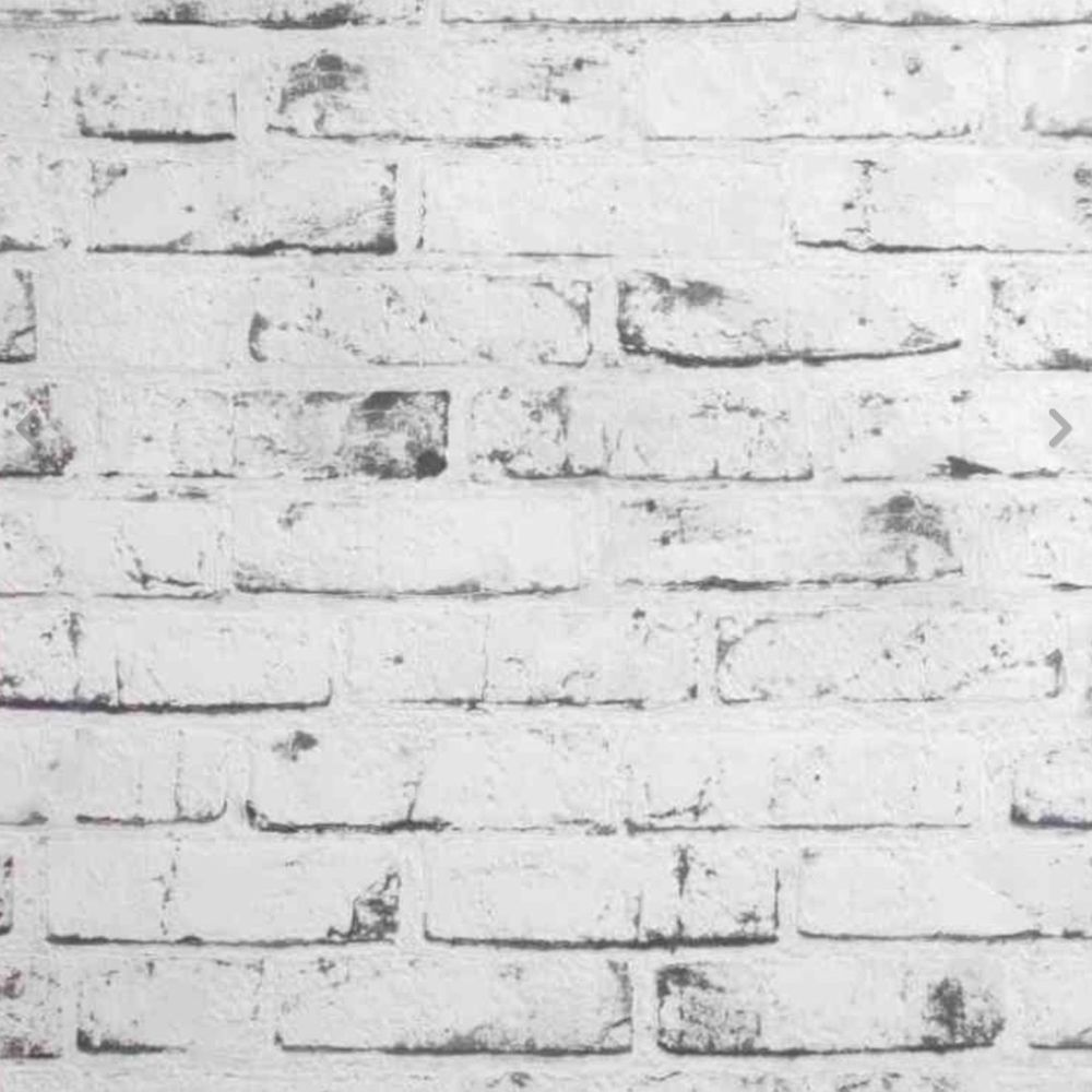 Rustic Kitchen Wallpaper: Details About Rustic Grey & White Wash Brick Look