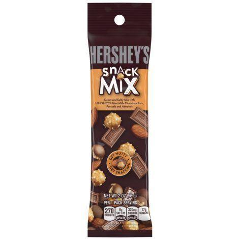 Hershey S Snack Mix Milk Chocolate Pretzels Almonds 2 5 Oz