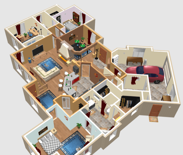 Plantas de casas 3d plantas de casas 3d pinterest for Simulador interiores 3d