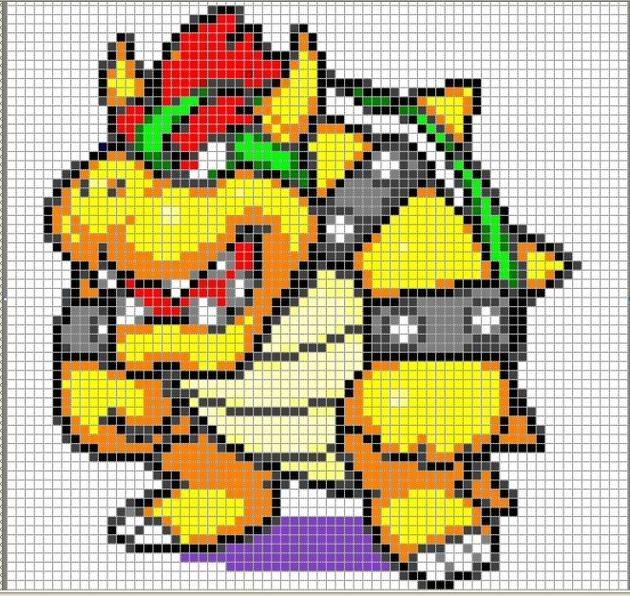 Mario bros punto de cruz patrones - Imagui | increibles | Pinterest ...