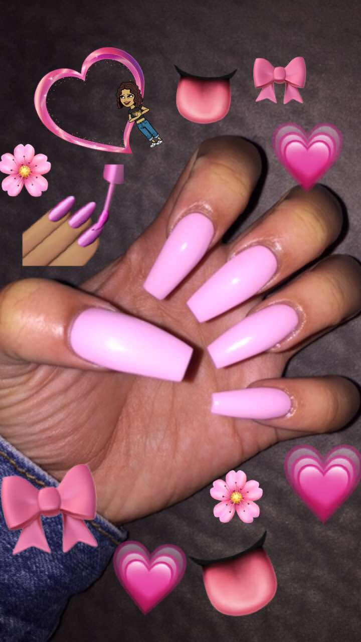 Pink Coffin Nails | Nails. | Pinterest | Coffin nails, Double team ...