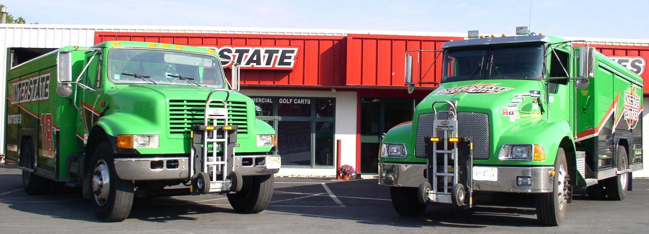 Interstate Batteries Route Delivery Trucks With Harper Trucks Aluminum Hand Trucks Locked Safely Aboard Navistar And Kenwort Hand Trucks Trucks Truck Transport