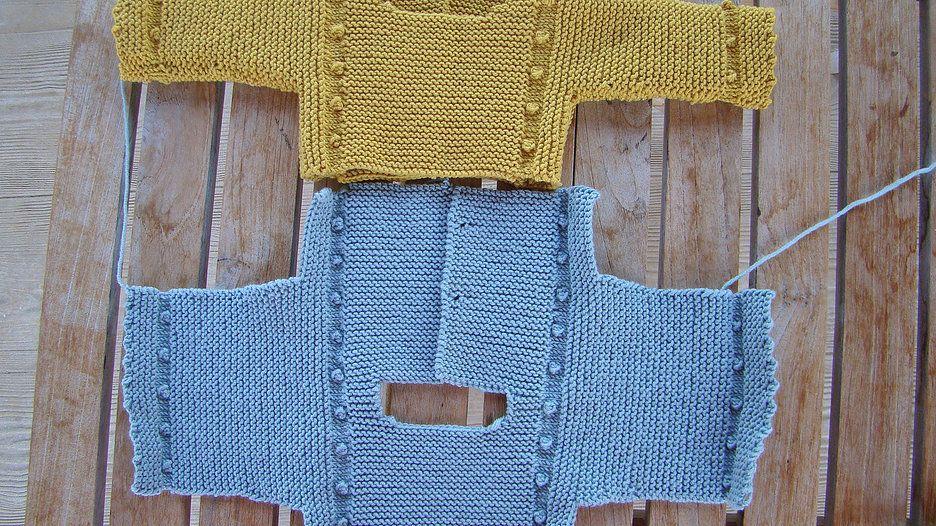 Tutorial jersey beb de punto a dos agujas chalecos - Tutoriales de punto con dos agujas ...