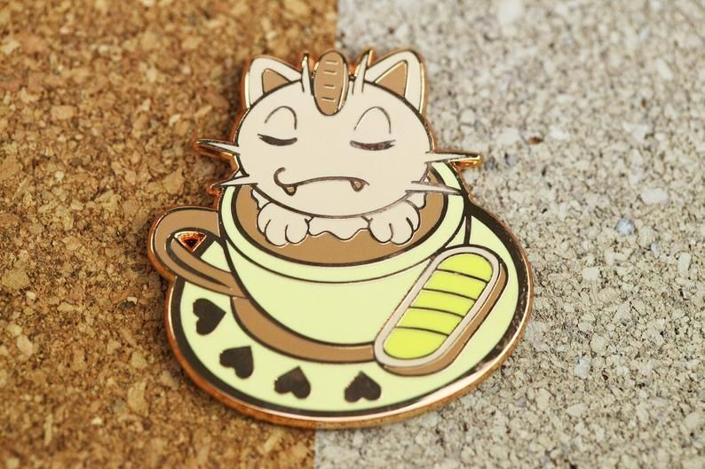 Pokemon Cat-puccino Pins made by Sushiba -