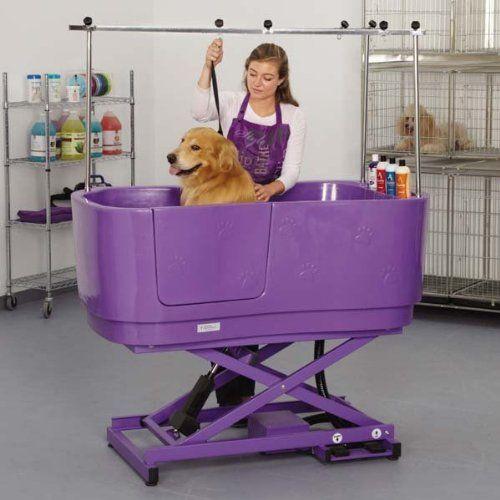 Master Equipment Poly Pro Lift Grooming Tub Purple Master
