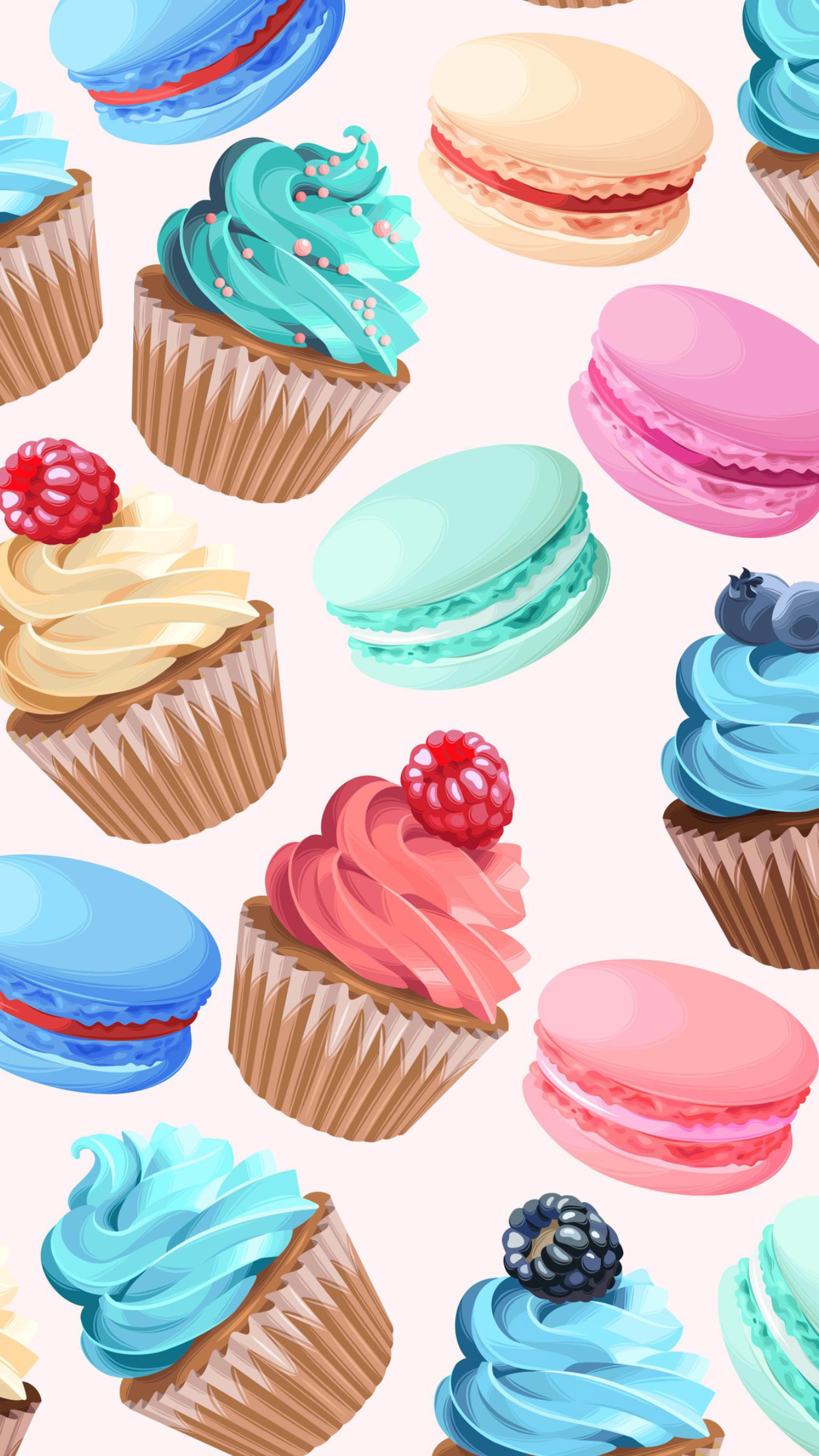 Yummy Treats For A Colorful Day Cupcakes Wallpaper Food Screen