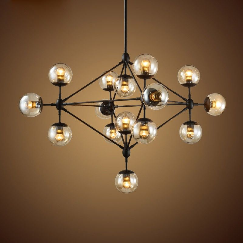 multi light pendant lighting fixtures. retro industrial loft multiple tea glass globe black iron pendant light lights ceiling multi lighting fixtures e