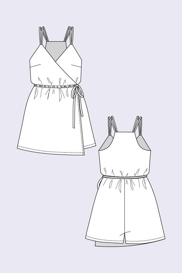 Helga Wrap Playsuit en 2018 | Fashion | Pinterest | Coser y ...