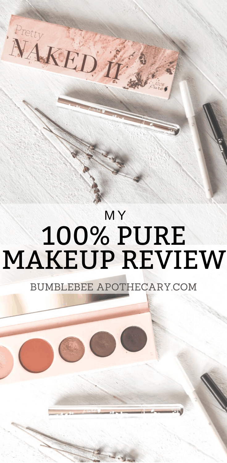 I have tried so many natural makeup brands over the years, and 100% Pure is my favorite, by far! I love how safe and natural the ingredients are, and it works like high end, expensive makeup! #100puremakeup #makeup #natural #review #healthy