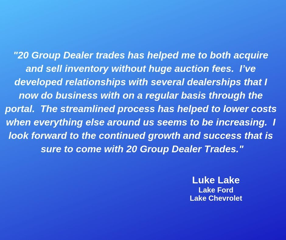 Luke Lake With Lake Ford And Lake Chevrolet Is One Of Our Valued